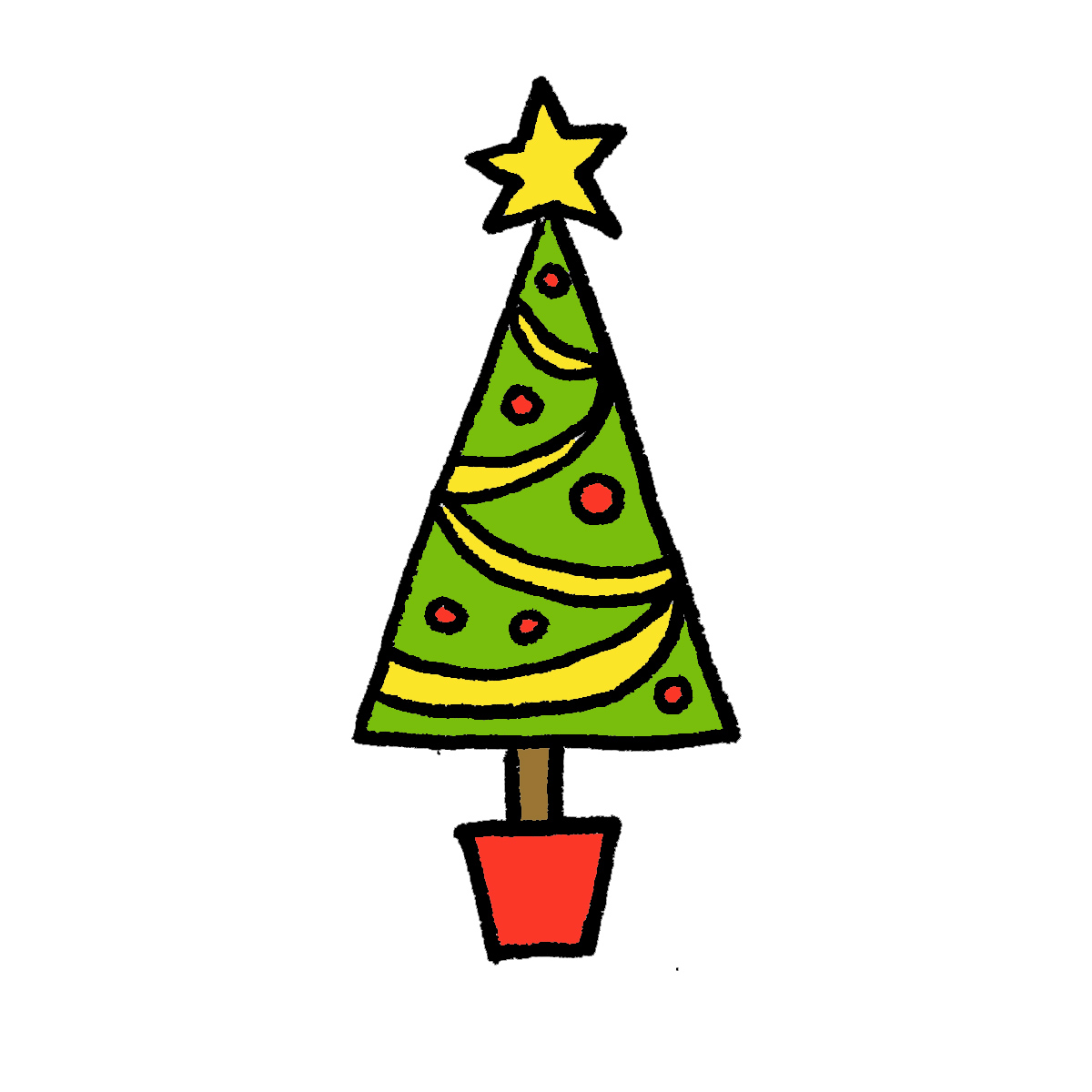 how to draw a christmas tree 4 cartoon tutorials how to draw a christmas tree 4 cartoon