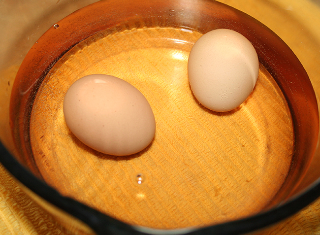 Eggs being pasteurized