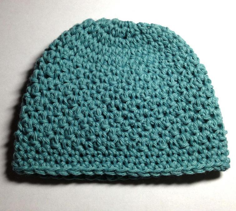 griddle stitch baby hat