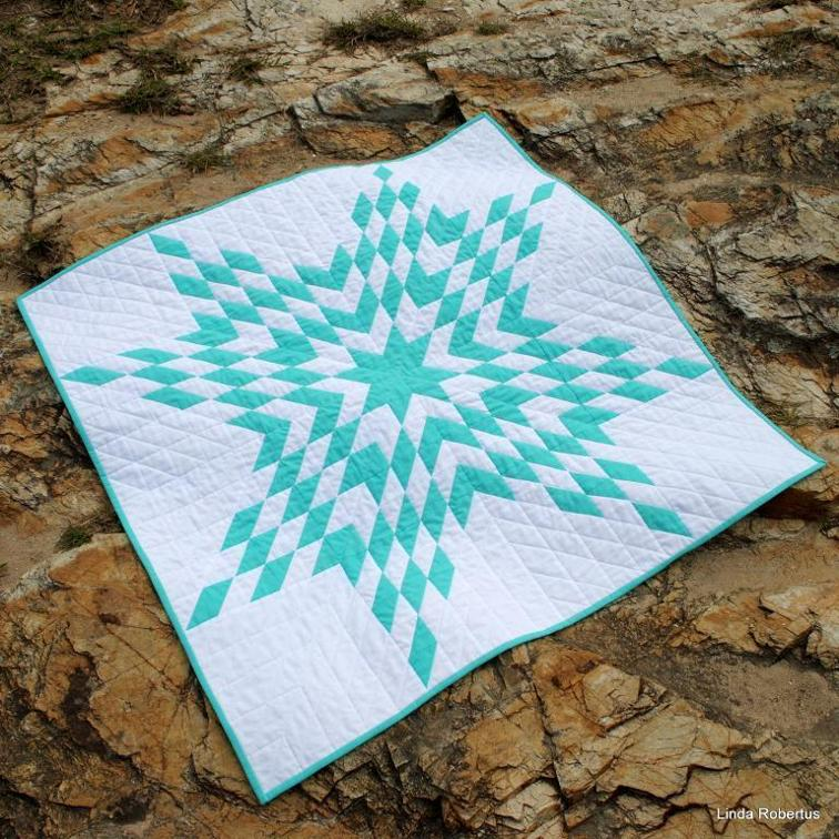 Lone Star Baby Quilt - two color quilts