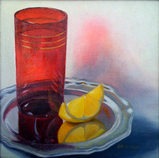 Glazing Oil Painting - Ruby Reflection Oil Painting