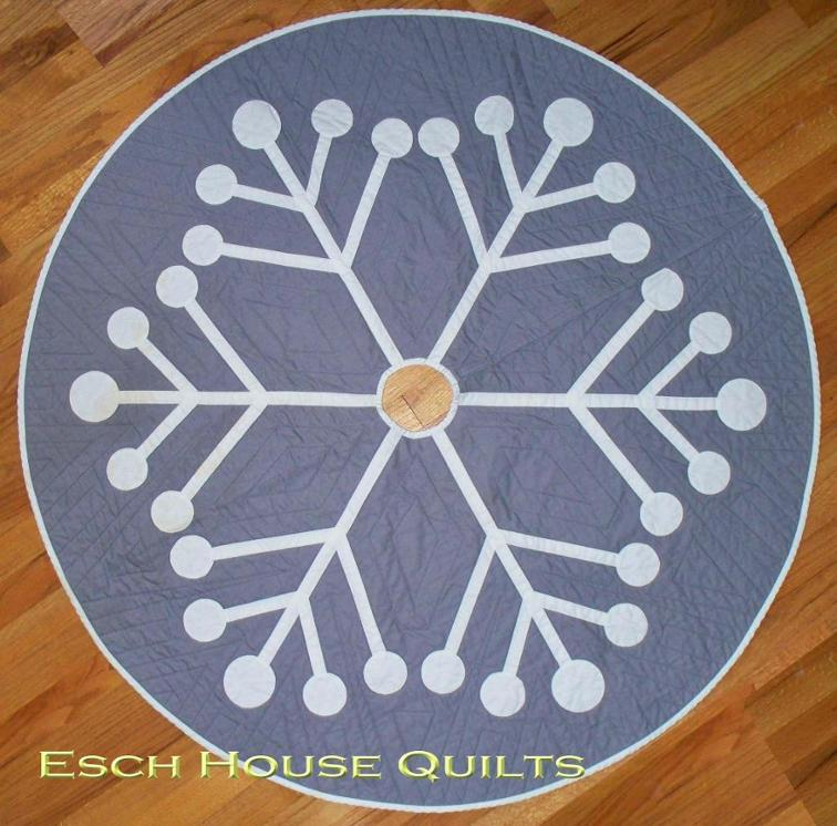 Snowflake Tree Skirt - two color quilts
