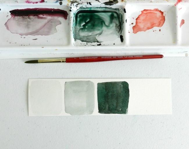watercolor value scale