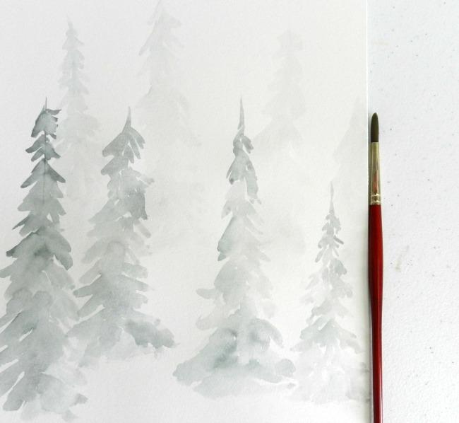 winter forest 2nd wash