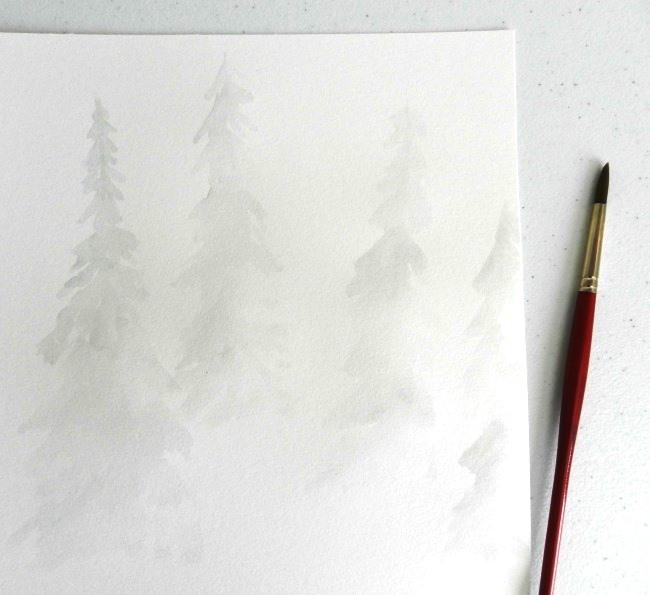 winter forest first wash