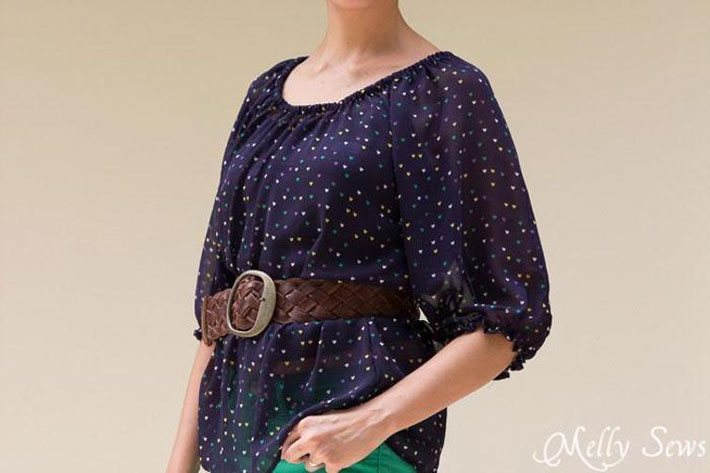 women's peasant top pattern