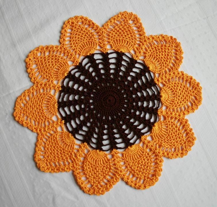 Crochet Sunflower Doily