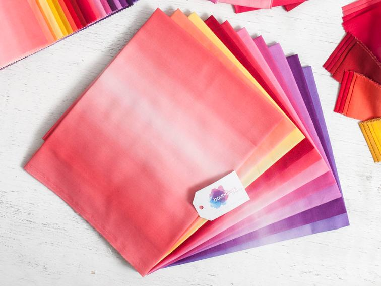 Boundless Blenders Ombre Sunset Precut Fabric