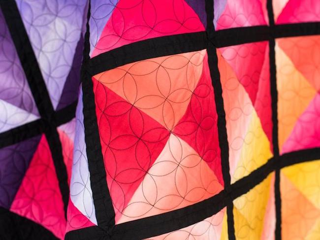 Boundless Blenders Ombre Color Block Quilt Close Up