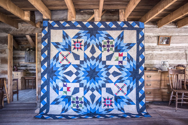 The Blazing Star Quilt: Bluprint's 2017 Block of the Month