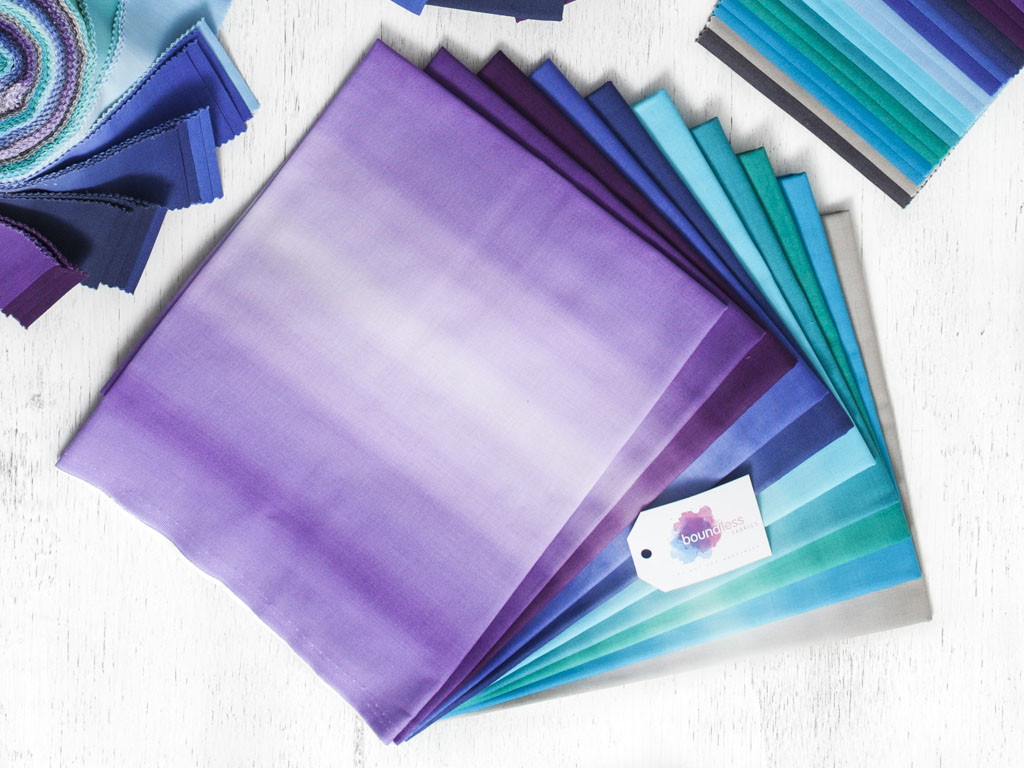 Cool Colors of Boundless Blenders Ombre Fabric
