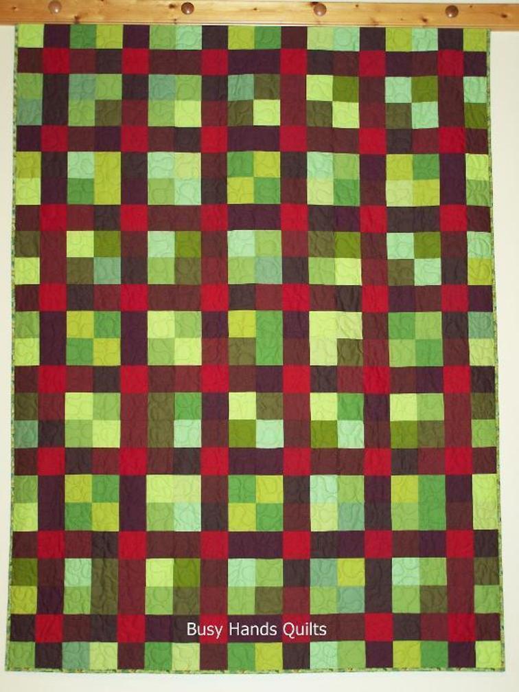Nine Patch Plaid Quilt