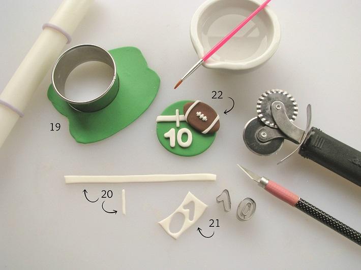 Football cupcake tutorial step 5
