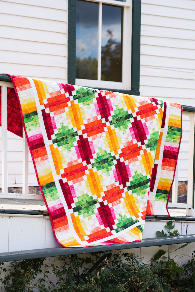 Fruit Slices Quilt Kit from Boundless Fabrics
