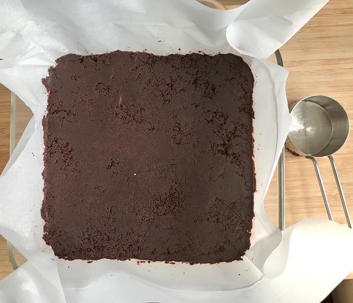 Oreo Crumb Crust in Square Pan