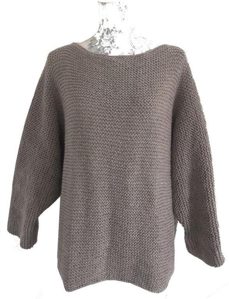 Aran Garter Stitch Sweater Knitting Pattern