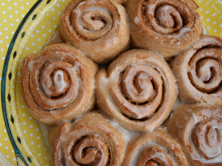 Learn how to make homemade cinnamon rolls — without the guilt — on Craftsy!