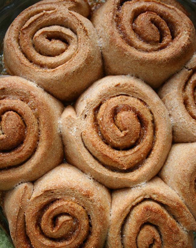 Just baked homemade cinnamon rolls