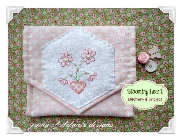 Blooming Hearts Stitchery