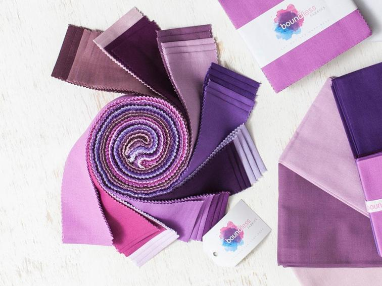 Boundless Solids Purple Passion Precut Fabric