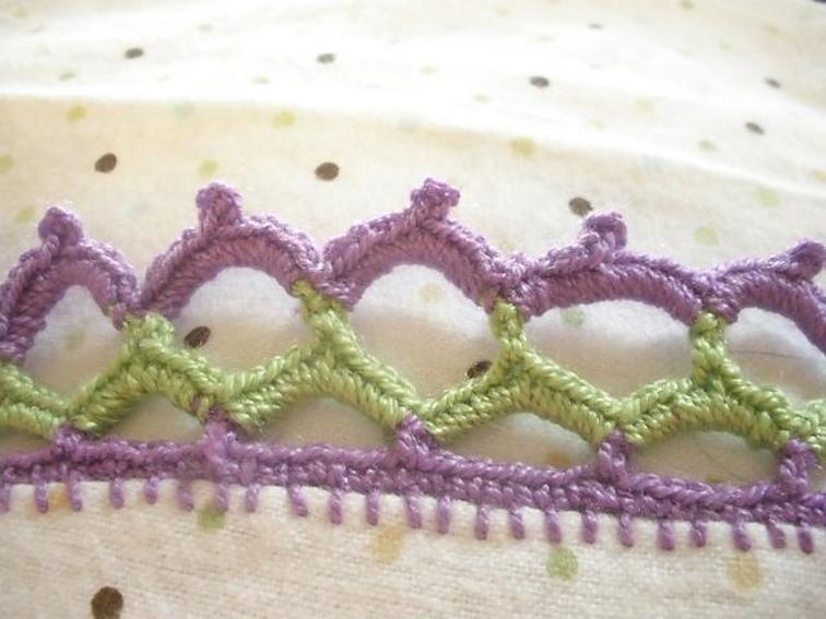 crochet edging for receiving blanket