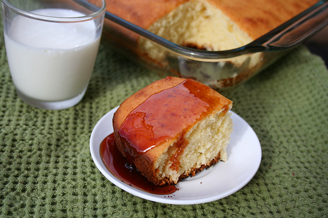 Caramel topped cake