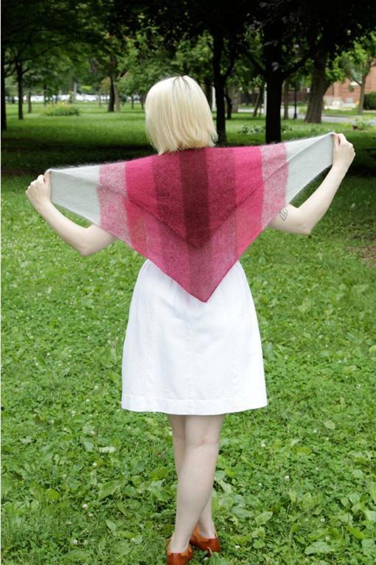 Howdy Ombre Shawl Knitting Pattern