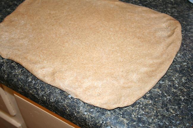 Rectangle of dough