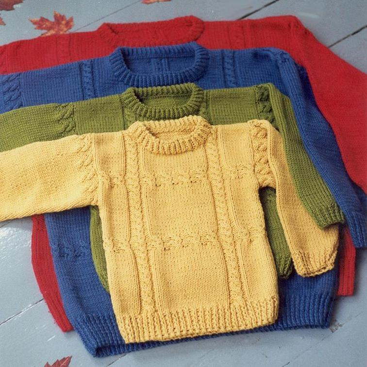 Family Cable Crossing Sweater Knitting Pattern