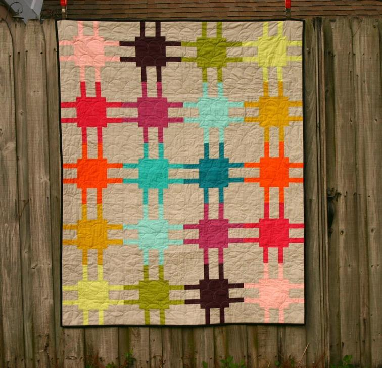 Mod Circuitry Square Quilt Pattern