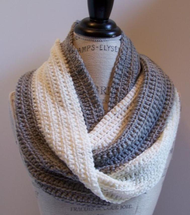 single crochet flo infinity scarf free pattern