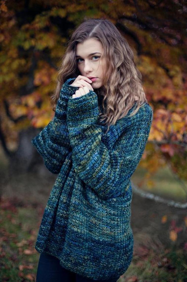 Mystery Green Sweater Knitting Pattern