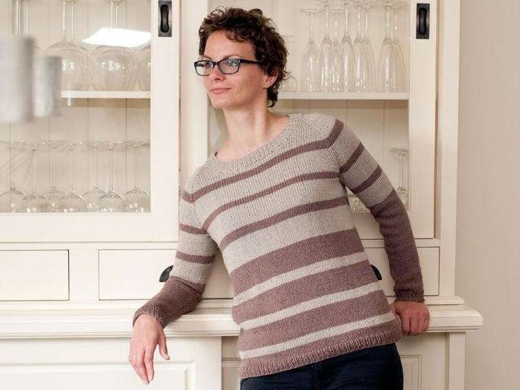 Nele Top Down Raglan Sweater Knitting Pattern