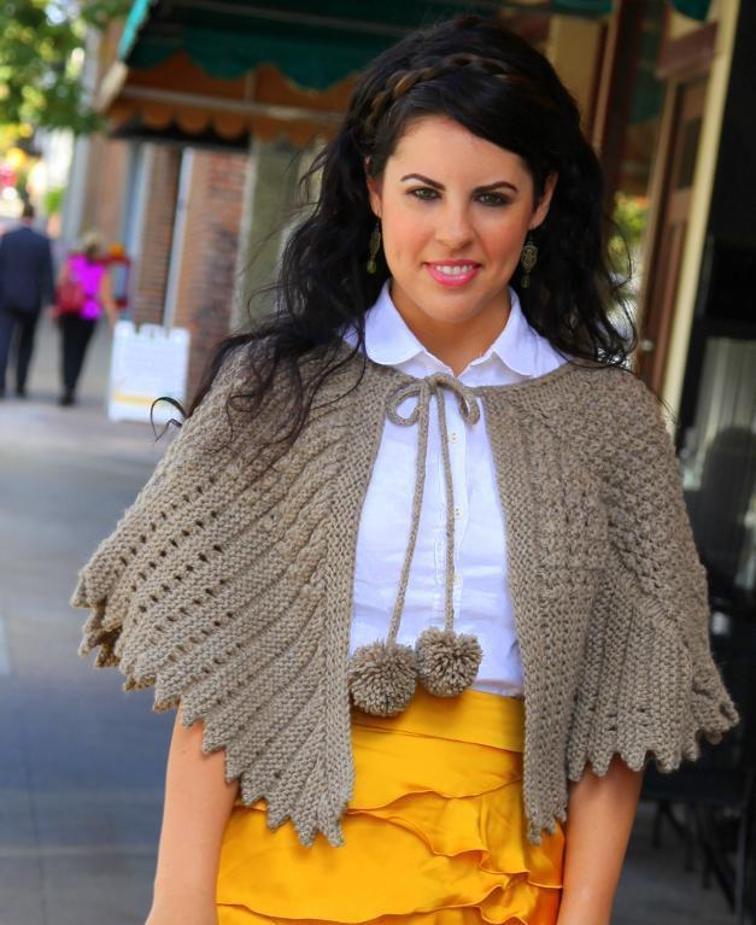 Priscilla Vintage Capelet Knitting Pattern