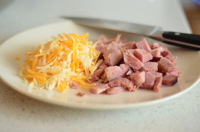 Ham and Cheese for Quiche Filling