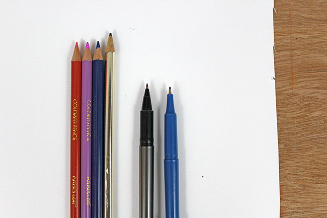 potential drawing tools for shadow art exercise