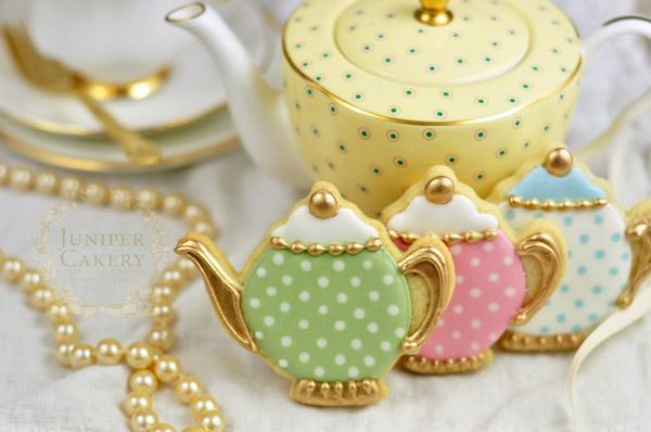 Vintage Teapot Cookies