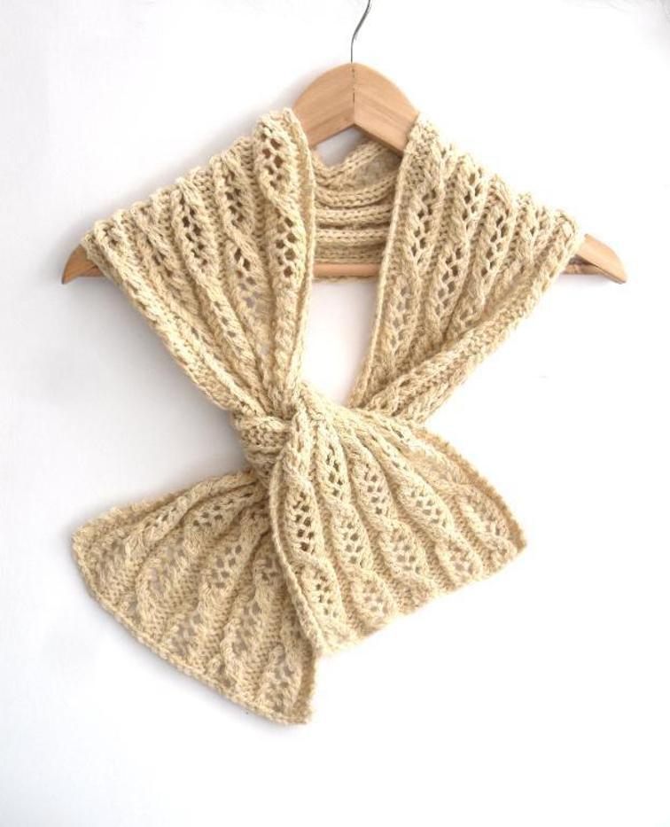 Vintage Lace Scarf Knitting Pattern