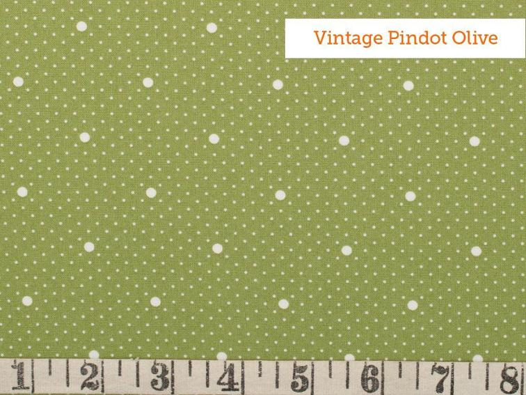 FreeSpirit Indigo Rose Fabric by the Yard Vintage Pindot Olive