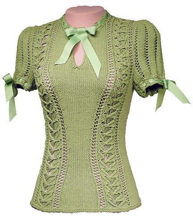 Zelda Vintage Blouse Knitting Pattern
