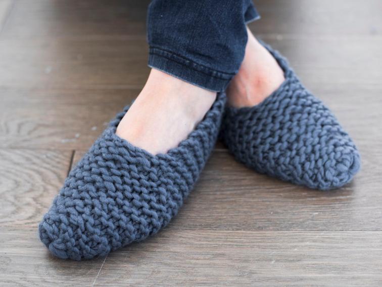 Stratus Slippers Knitting Kit