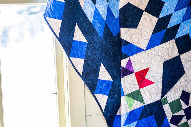 Ribbon Border on Blazing Star Quilt