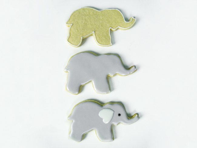 Decorating an Elephant Cookie with Royal Icing