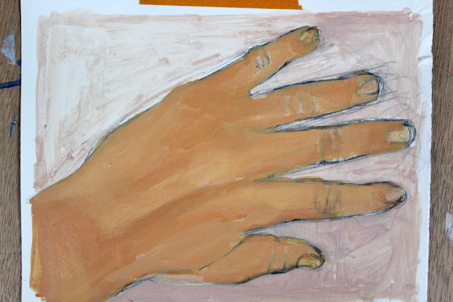 third layer of painting hands