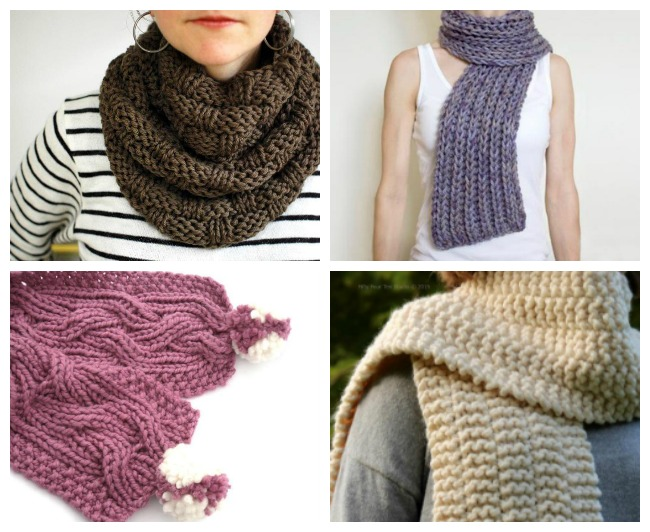 Chunky Knit Scarf Patterns