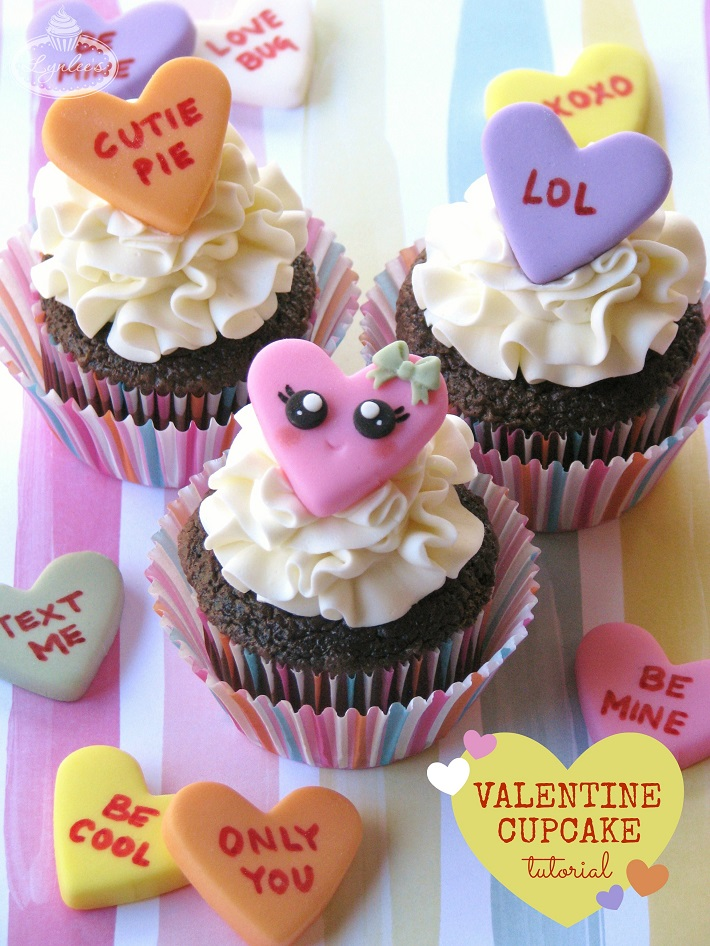 Conversation Heart Cupcake Tutorial