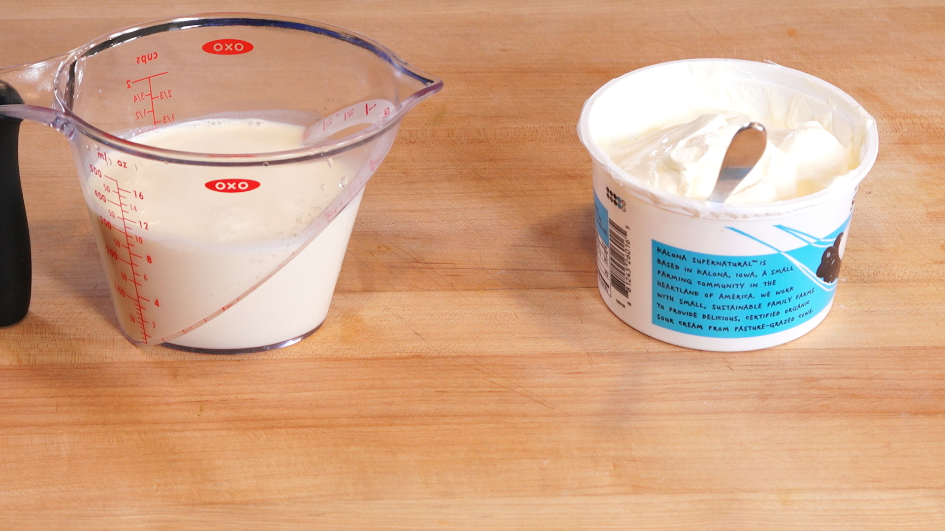 Two Ingredients for Mexican Crema