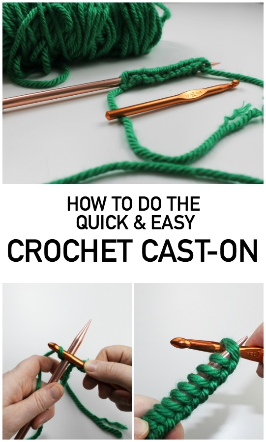 Learn the Crochet Cast-On for Quick, Neat Edges for your Knitting