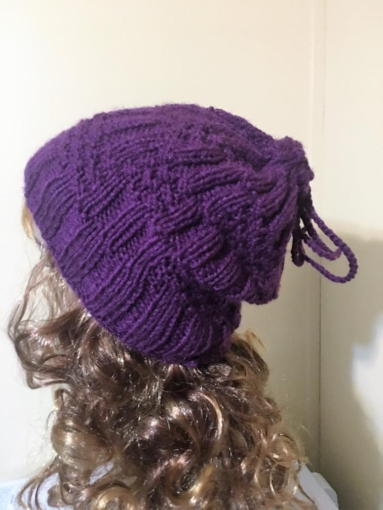 Knit Bun Ponytail Beanie Knitting Pattern