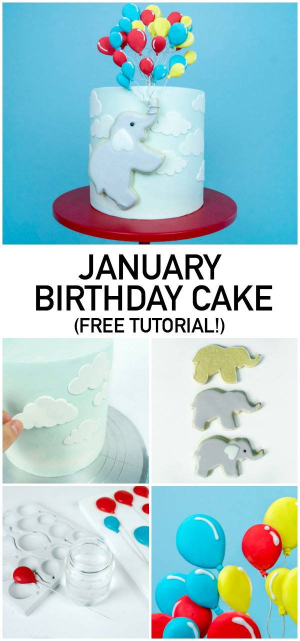 FREE Birthday Cake Tutorial on Craftsy